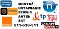 Instalacje, montaż, ustawianie anten Sat, DVB-T, sieci wi-fi,